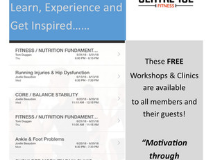 FREE June July Workshops & Clinics....