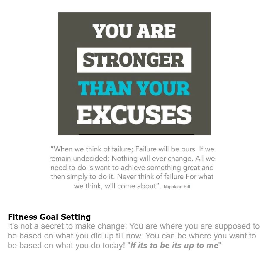 FITNESS IS A CHOICE change your decisions!