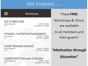 WINTER WORKSHOPS AND CLINICS