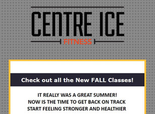 NEW FALL SCHEDULE INCLUDES:    (Hatha Yoga)(POUND) (Cardio Kick Boxing) (TCX) (Mobility & Flexib