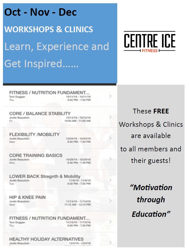List of clinics and workshops