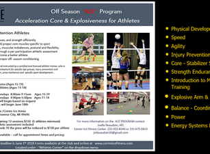 NEW ATHLETIC CONDITIONING CAMPS!   Reserve you spot. Sports conditioning youth camps starting soon.