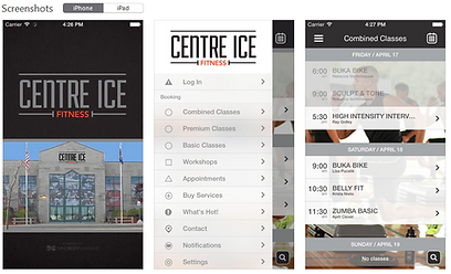 Centre Ice Fitness Mobile app link