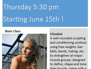 GET CHISELED - NEW FALL CLASS!
