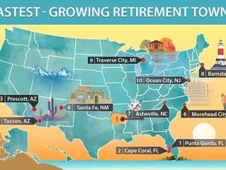 "Realtor.com Top 10 Fastest growing retirement hot spots ""Traverse City"""