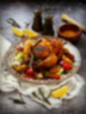 thyme and lemon roasted chicken