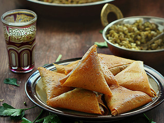 Saudi Samosas with Mung beans filling