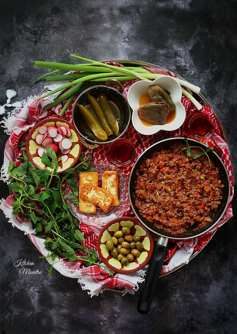 tomato/beef skillet
