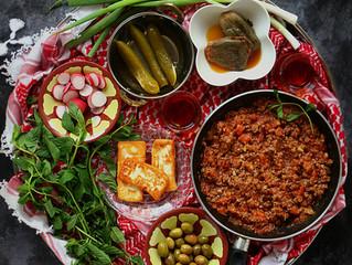 Gallayet bandora (Traditional Jordanian Tomato/beef Skillet)