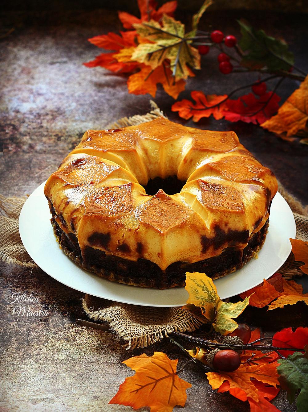Choco flan cake