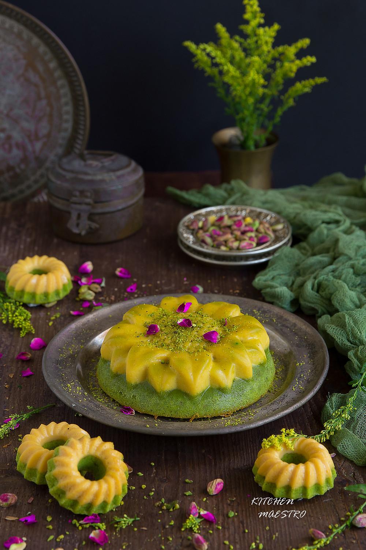 Pistachio/Flan Cake