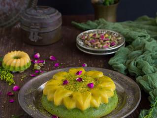 Pistachio/Flan Cake,كيك قدرة قادربالفستق الحلبي