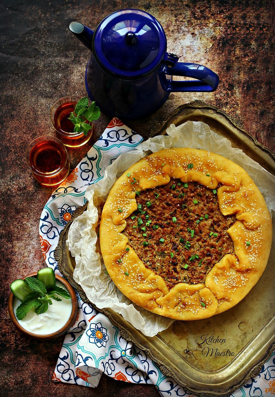 Eish bel Lahm (meat galette)