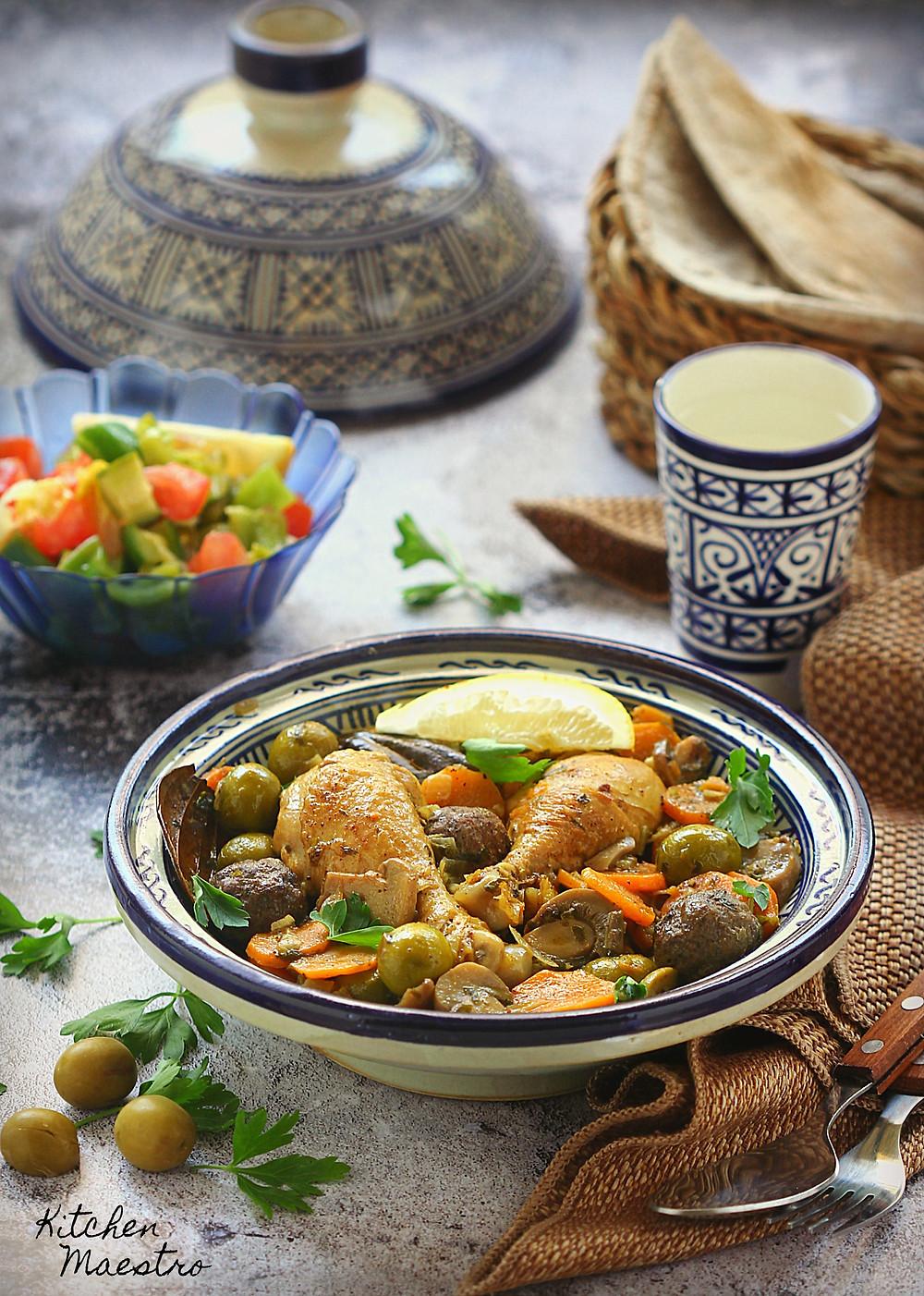 olive chicken tajine
