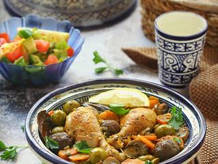Algerian Olive Chicken Tagine