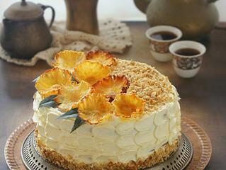 Hummingbird cake,كيكة الاناناس و الجوز