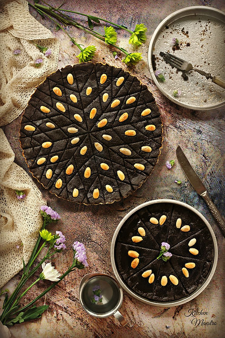black seeds pie (qizha)