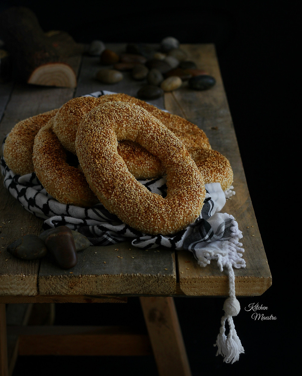 Palestinian sesame bread