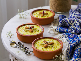 Persian Saffron Rice Pudding (Sholeh Zard)