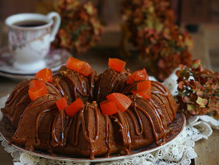 Persimmon Cake,كيكة الكاكي اوالكاكا
