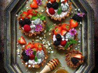 Granola fruit tart