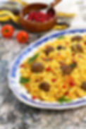 kofta and spicy rice