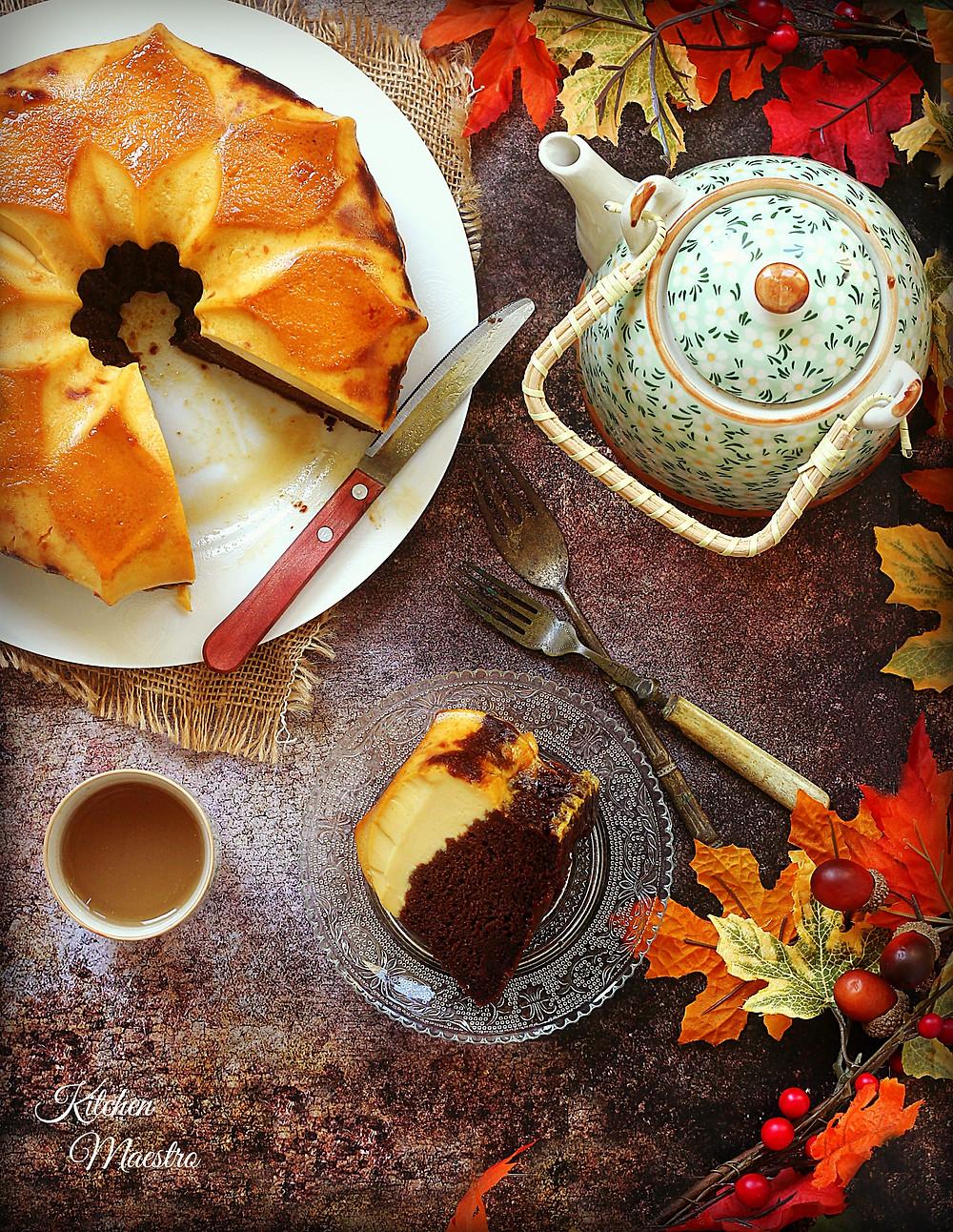 Choco/coffee flan cake