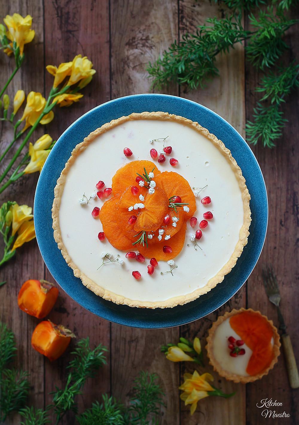 persimmon tart
