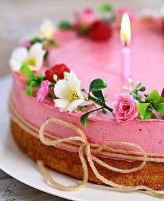 raspberry lemon mousse cake