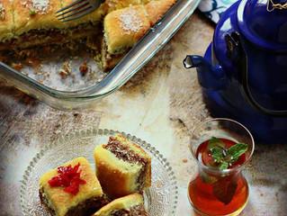 """""""Hijazi Alexandrian,Dahdah"""" Stuffed Semolina bars"""