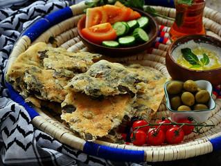 Zaatar flat bread(Fteer Falahi)