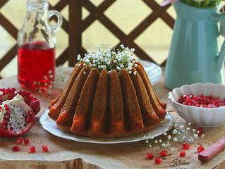 Pomegranate cake,كيكة الرمان