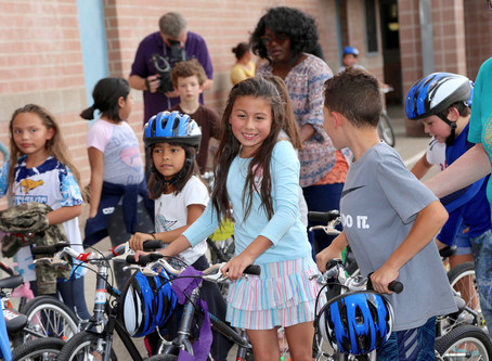 Gates and Wish for Wheels Team Up to Give Second Graders New Wheels
