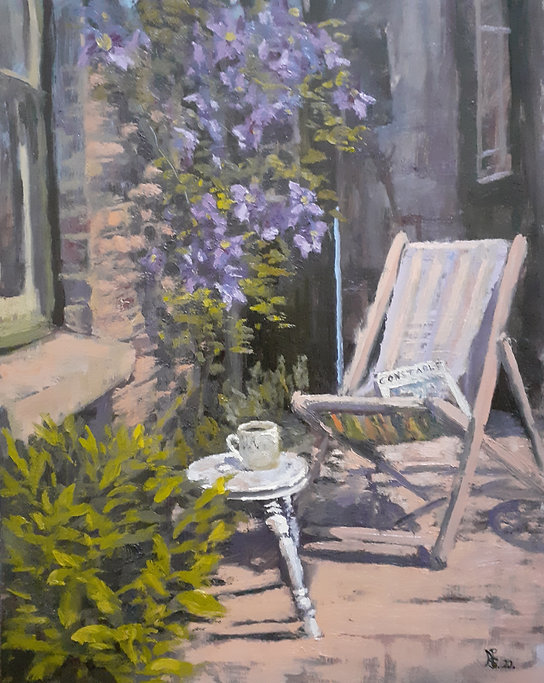 Constable, Clematis and Tea