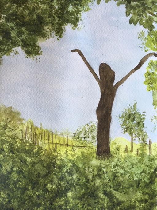 A Lockdown Hug from A Dancing Tree at Sissinghurst