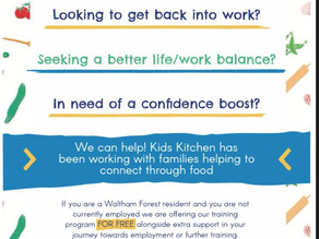 Free Training in London - Family Work, Childcare, Healthy Food