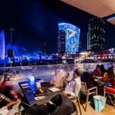 Promenade side dining at Dubai Festival City