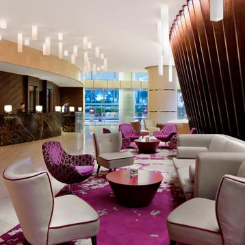 Lobby level at Crowne Plaza Dubai Festival City