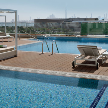 Leisure deck at at Holiday Inn Dubai Festival City