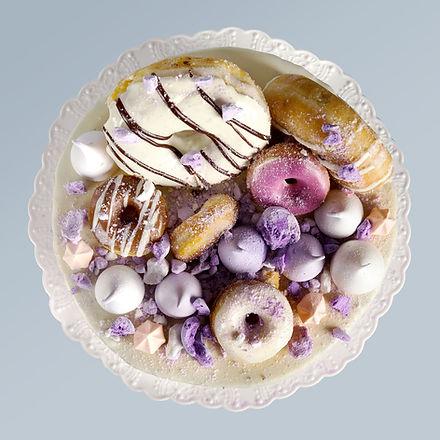 Donuts no bolo