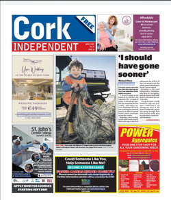 Front Page Cork Independent 15/04/2021