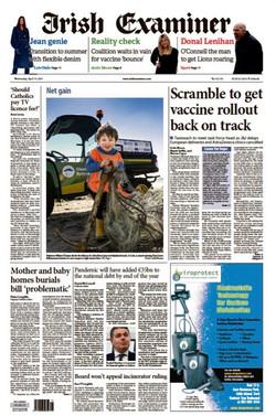 Front Page Irish Examiner 14/04/2021