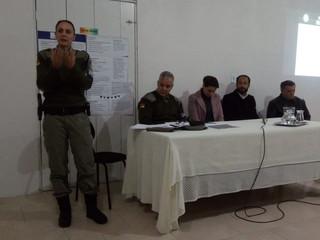 Audiência publica com Brigada Militar e Policia Civil.