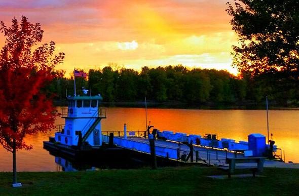 ferry_sunset