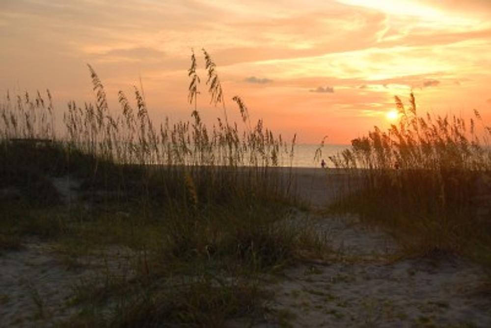 Sunrise at Tybee Island.