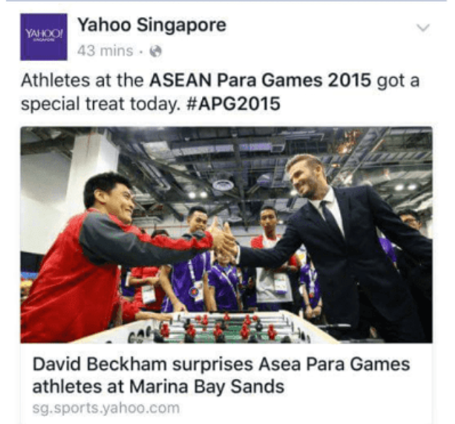 On the news at the ASEAN Para Games 2015.