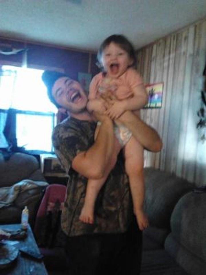 With my baby girl, Hayden.