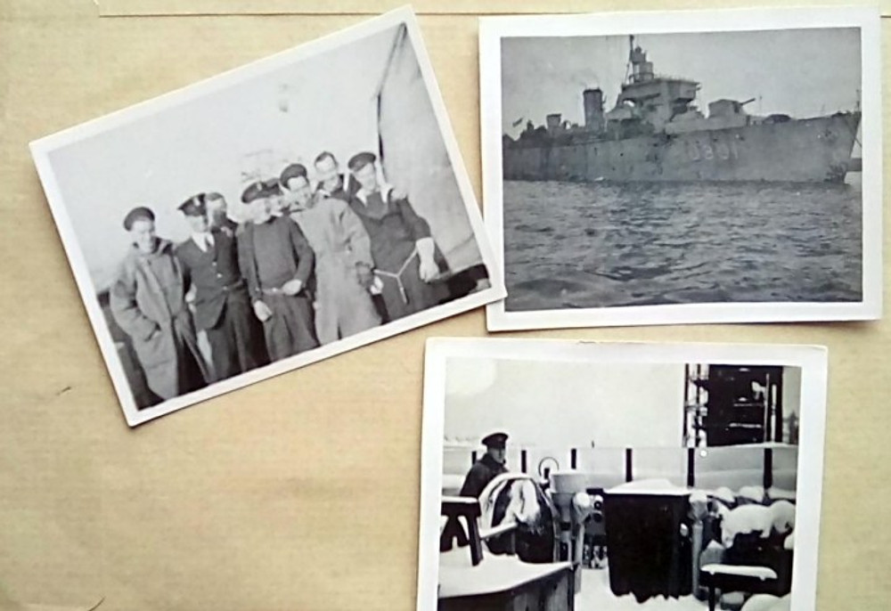 Old photos of the HMS Squirrel and its crew.