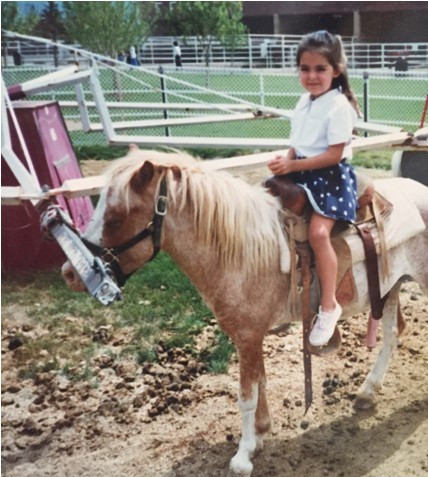 Little me on horseback.