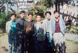 Me (third left) with my classmates.